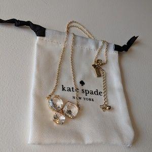 *NEW* ♠️ Kate Spade 3 gem 12k gold necklace
